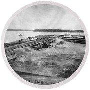 Civil War: Fort Defiance Round Beach Towel