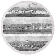 Civil War: Fort Moultrie Round Beach Towel