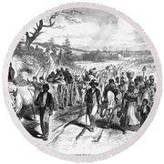 Civil War: Freedmen, 1863 Round Beach Towel