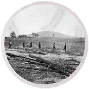 Civil War: Graves, 1862 Round Beach Towel