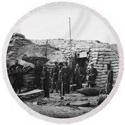 Civil War: Headquarters Round Beach Towel