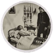 Civil War Hospital Round Beach Towel by Bill Cannon