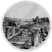 Civil War: Manassas, 1862 Round Beach Towel