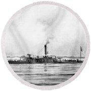 Civil War: Mobile Bay, 1864 Round Beach Towel
