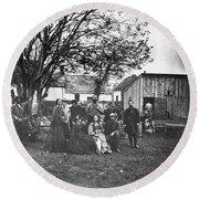 Civil War: Nurses & Officers Round Beach Towel