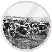 Civil War: Parrott Guns Round Beach Towel