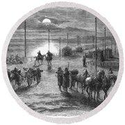 Civil War: Potomac Bridge Round Beach Towel