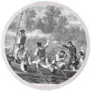 Civil War: Potomac River Round Beach Towel