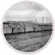 Civil War: Railroad, 1864 Round Beach Towel