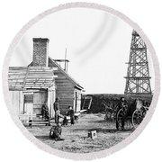 Civil War: Signal Tower Round Beach Towel