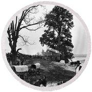 Civil War: Supply Base, 1864 Round Beach Towel