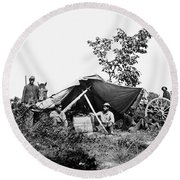 Civil War: Telegraphers, 1864 Round Beach Towel