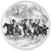 Civil War: Texas Rangers Round Beach Towel