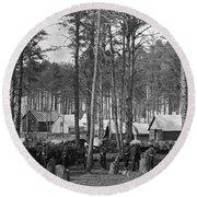 Civil War: Union Camp, 1864 Round Beach Towel