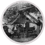 Civil War: Union Camp Round Beach Towel