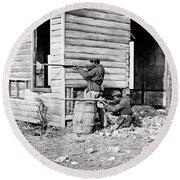 Civil War: Union Soldiers Round Beach Towel