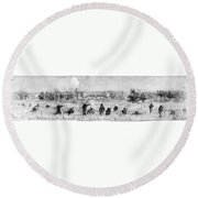 Civil War: Union Troops Round Beach Towel