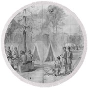 Civil War: Voting, 1864 Round Beach Towel