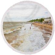 Clacton Beach Round Beach Towel
