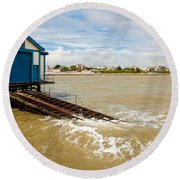 Clacton Lifeboat House Round Beach Towel