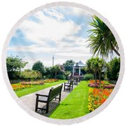 Clacton Pleasure Garden Round Beach Towel