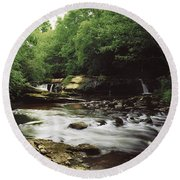 Clare River, Clare Glens, Co Tipperary Round Beach Towel
