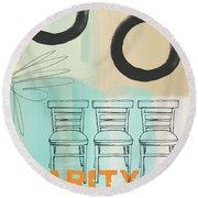 Clarity Round Beach Towel by Linda Woods