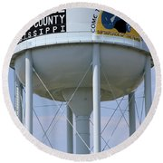 Clarksdale Water Tower Round Beach Towel