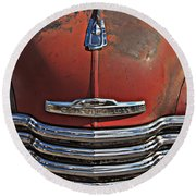 Classic 50s Chevy Round Beach Towel