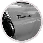 Classic 55 Thunderbird Round Beach Towel