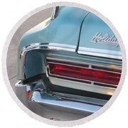 Classic Car Aqua Holiday Round Beach Towel