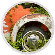 Classic Car Forgotten Round Beach Towel