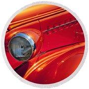 Classic Car Lines Round Beach Towel