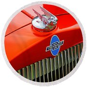 Classic Chevrolet Hood And Grill Round Beach Towel