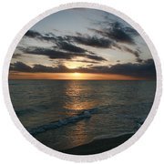 Classic Sunset Round Beach Towel