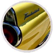 Classic T-bird Tailfin Round Beach Towel