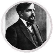 Claude Debussy, French Composer Round Beach Towel by Photo Researchers