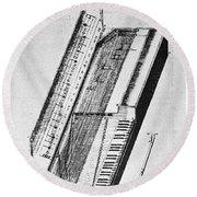 Clavichord, 1636 Round Beach Towel