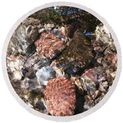 Clear And Pure Round Beach Towel
