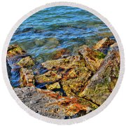 Clear Calm Collective  Round Beach Towel