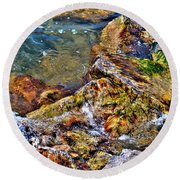 Clear Contact Round Beach Towel