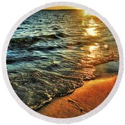 Clear Waters Round Beach Towel