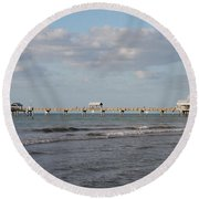 Clearwater Pier 69 Round Beach Towel