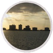 Clearwater Sky Round Beach Towel