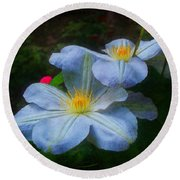 Clematis Altered Round Beach Towel
