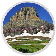 Clements Mountain Round Beach Towel