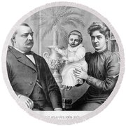 Cleveland Family, C1893 Round Beach Towel