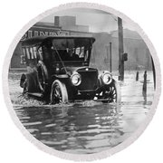 Cleveland: Flood, C1913 Round Beach Towel