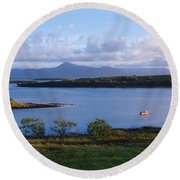 Clew Bay, Co Mayo, Ireland Round Beach Towel