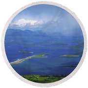 Clew Bay, Co Mayo, Ireland View Of A Round Beach Towel